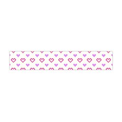 Pixel Hearts Flano Scarf (mini) by jumpercat