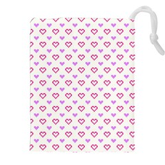 Pixel Hearts Drawstring Pouches (xxl) by jumpercat