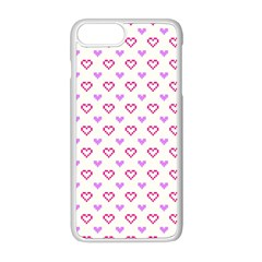 Pixel Hearts Apple Iphone 8 Plus Seamless Case (white) by jumpercat