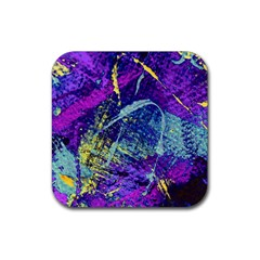Ink Splash 01 Rubber Square Coaster (4 Pack)  by jumpercat