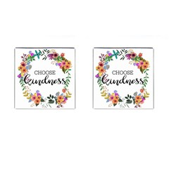 Choose Kidness Cufflinks (square) by SweetLittlePrint