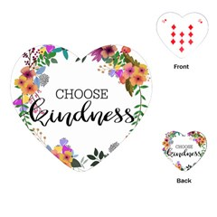 Choose Kidness Playing Cards (heart)  by SweetLittlePrint