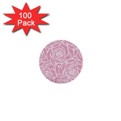 Pink Peonies 1  Mini Buttons (100 Pack)  by 8fugoso