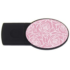 Pink Peonies Usb Flash Drive Oval (4 Gb) by 8fugoso
