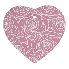 Pink Peonies Heart Ornament (two Sides) by 8fugoso