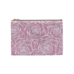 Pink Peonies Cosmetic Bag (medium)  by 8fugoso