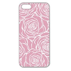 Pink Peonies Apple Seamless Iphone 5 Case (clear) by 8fugoso