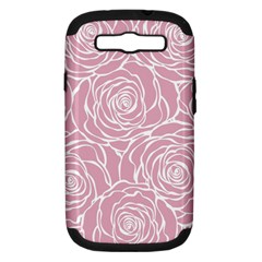 Pink Peonies Samsung Galaxy S Iii Hardshell Case (pc+silicone) by 8fugoso