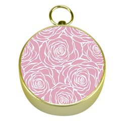 Pink Peonies Gold Compasses by 8fugoso