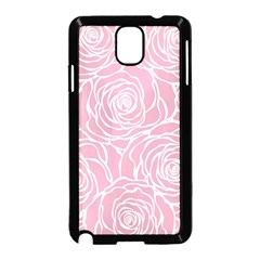 Pink Peonies Samsung Galaxy Note 3 Neo Hardshell Case (black) by 8fugoso