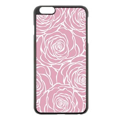 Pink Peonies Apple Iphone 6 Plus/6s Plus Black Enamel Case by 8fugoso