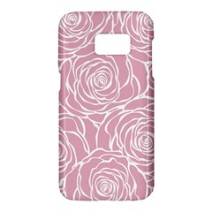 Pink Peonies Samsung Galaxy S7 Hardshell Case  by 8fugoso