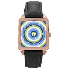Oracle 01 Rose Gold Leather Watch  by jumpercat