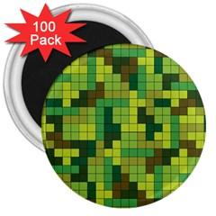 Tetris Camouflage Forest 3  Magnets (100 Pack) by jumpercat