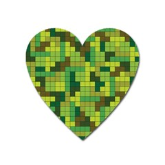 Tetris Camouflage Forest Heart Magnet by jumpercat