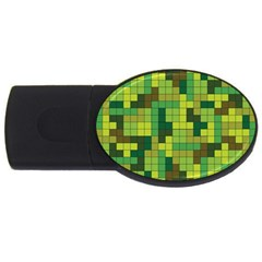 Tetris Camouflage Forest Usb Flash Drive Oval (4 Gb) by jumpercat