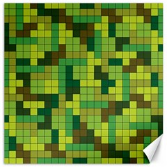 Tetris Camouflage Forest Canvas 12  X 12   by jumpercat