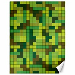 Tetris Camouflage Forest Canvas 12  X 16   by jumpercat