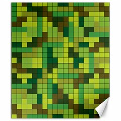 Tetris Camouflage Forest Canvas 20  X 24   by jumpercat
