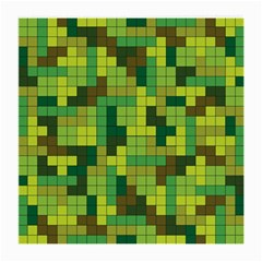 Tetris Camouflage Forest Medium Glasses Cloth by jumpercat
