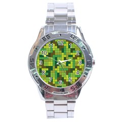 Tetris Camouflage Forest Stainless Steel Analogue Watch by jumpercat