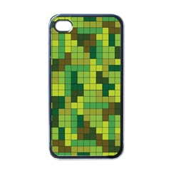 Tetris Camouflage Forest Apple Iphone 4 Case (black)