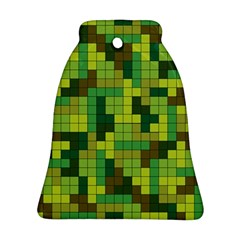 Tetris Camouflage Forest Ornament (bell) by jumpercat