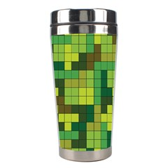 Tetris Camouflage Forest Stainless Steel Travel Tumblers by jumpercat