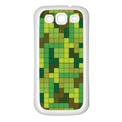 Tetris Camouflage Forest Samsung Galaxy S3 Back Case (white)