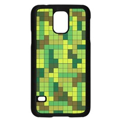 Tetris Camouflage Forest Samsung Galaxy S5 Case (black) by jumpercat
