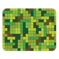 Tetris Camouflage Forest Double Sided Flano Blanket (large)  by jumpercat