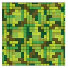 Tetris Camouflage Forest Large Satin Scarf (square) by jumpercat