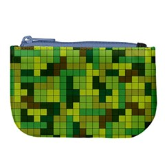 Tetris Camouflage Forest Large Coin Purse