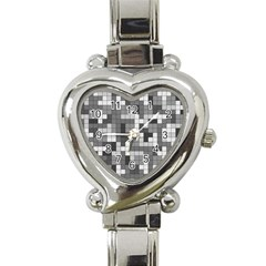 Tetris Camouflage Urban Heart Italian Charm Watch by jumpercat