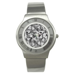 Tetris Camouflage Urban Stainless Steel Watch by jumpercat