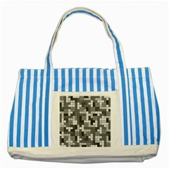 Tetris Camouflage Urban Striped Blue Tote Bag by jumpercat