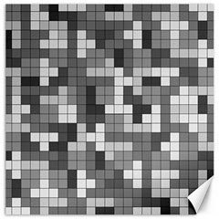 Tetris Camouflage Urban Canvas 12  X 12   by jumpercat