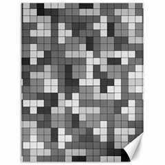 Tetris Camouflage Urban Canvas 12  X 16   by jumpercat