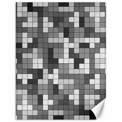 Tetris Camouflage Urban Canvas 18  X 24   by jumpercat
