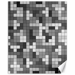 Tetris Camouflage Urban Canvas 11  X 14   by jumpercat