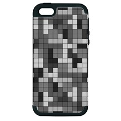 Tetris Camouflage Urban Apple Iphone 5 Hardshell Case (pc+silicone) by jumpercat