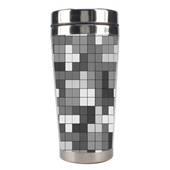 Tetris Camouflage Urban Stainless Steel Travel Tumblers by jumpercat