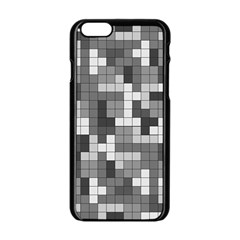 Tetris Camouflage Urban Apple Iphone 6/6s Black Enamel Case by jumpercat