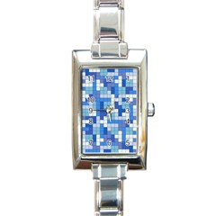 Tetris Camouflage Marine Rectangle Italian Charm Watch by jumpercat