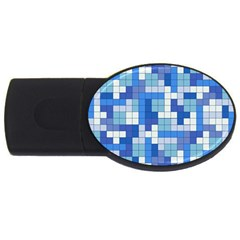 Tetris Camouflage Marine Usb Flash Drive Oval (2 Gb) by jumpercat