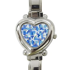 Tetris Camouflage Marine Heart Italian Charm Watch by jumpercat