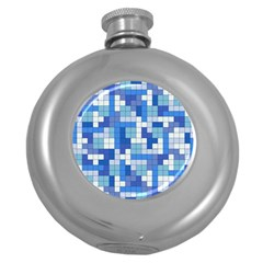Tetris Camouflage Marine Round Hip Flask (5 Oz) by jumpercat