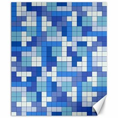 Tetris Camouflage Marine Canvas 8  X 10  by jumpercat