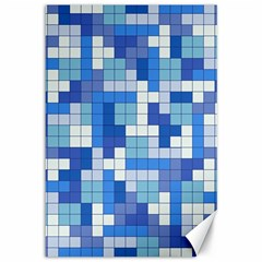 Tetris Camouflage Marine Canvas 12  X 18   by jumpercat