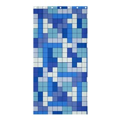 Tetris Camouflage Marine Shower Curtain 36  X 72  (stall)  by jumpercat